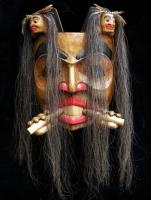 Beaver Mask with Human Spirits