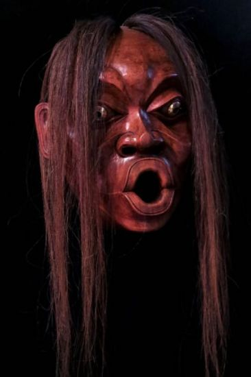 Bukwus mask with horsehair -