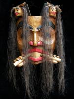 Beaver Mask with Human Spirits