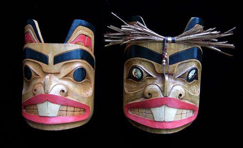 Beaver Mask (Totem Design)