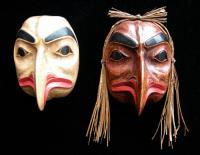 Man Transforming to Eagle Mask