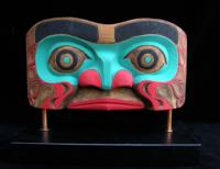Human Face Panel Mask on Stand