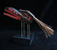 Raven Mask on Stand