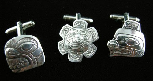 Silver Cuff Links (Three Designs)
