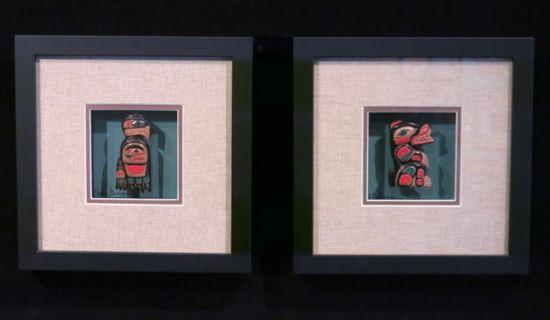 Miniature Masks in Fancy Frames