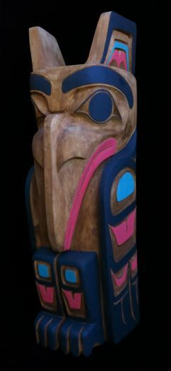 Raven Pole - Painted Finish
