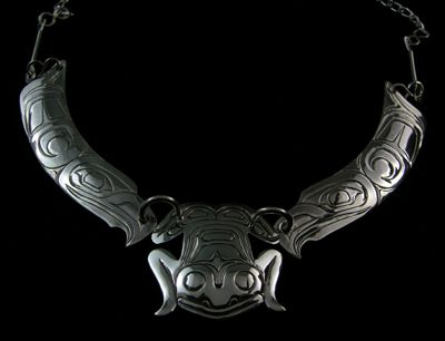 Frog Choker with Eagle Wings